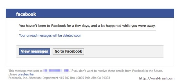 Unread messages will be deleted Facebook