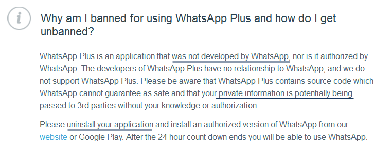 Whats App Plus ban_WhatsApp FAQs
