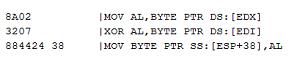 Figure 11 - Encryption routine