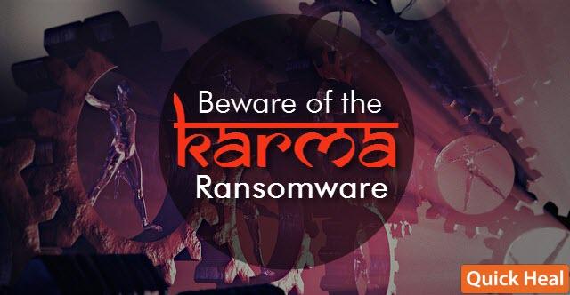beware of the karma ransomware